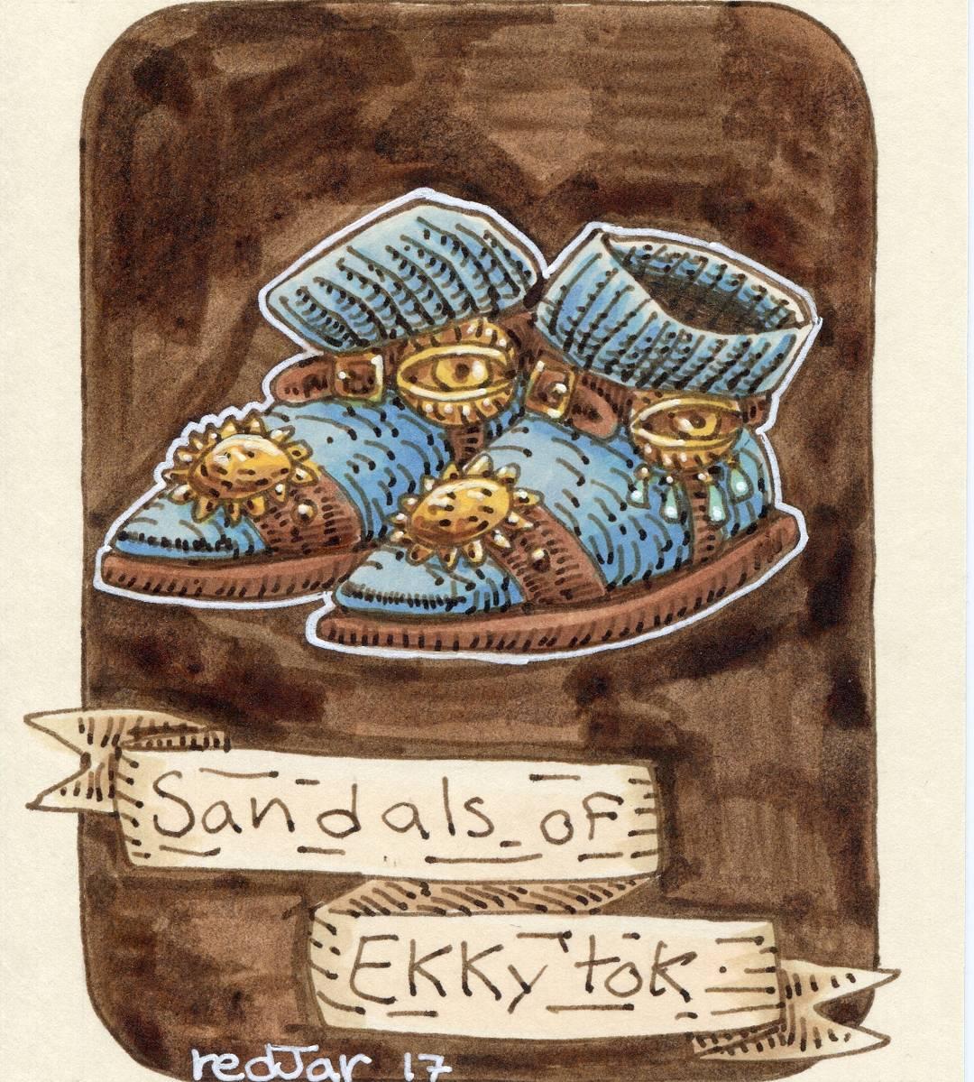 "redjarojam ""Sandals of Ekky-Tok"" - by Jared DeCosta (redjarojam) www.instagram.com/redjarojam (2017-03) © dell'autore tutti i diritti riservati"