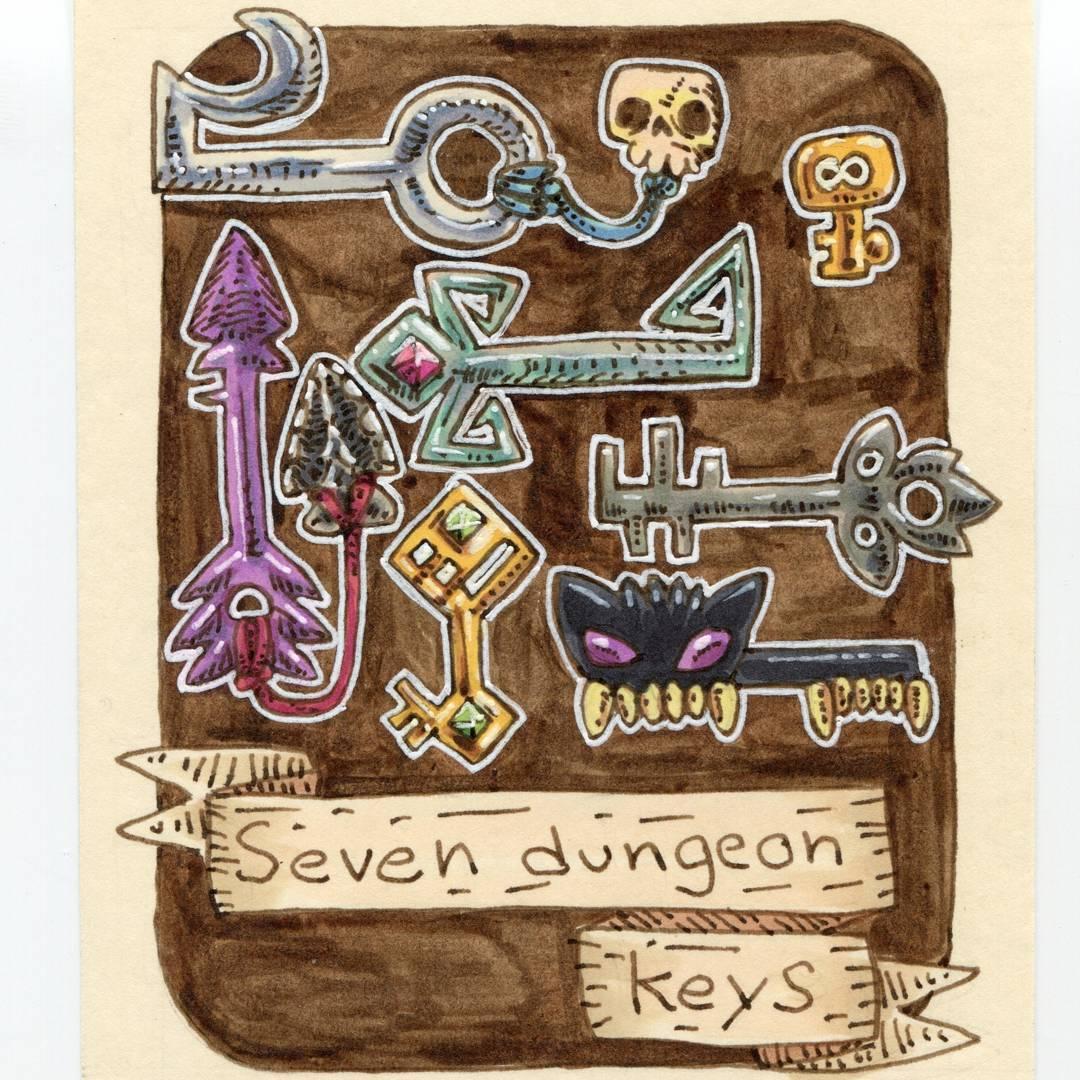 "redjarojam ""Seven Dungeon Keys"", 12 Days of Critmas - by Jared DeCosta (redjarojam) www.instagram.com/redjarojam (2017-12) © dell'autore tutti i diritti riservati"