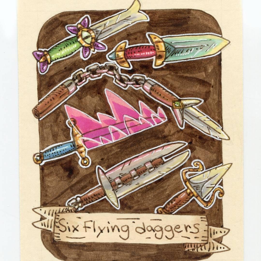 "redjarojam ""Six Flying Daggers"", 12 Days of Critmas - by Jared DeCosta (redjarojam) www.instagram.com/redjarojam (2017-12) © dell'autore tutti i diritti riservati"