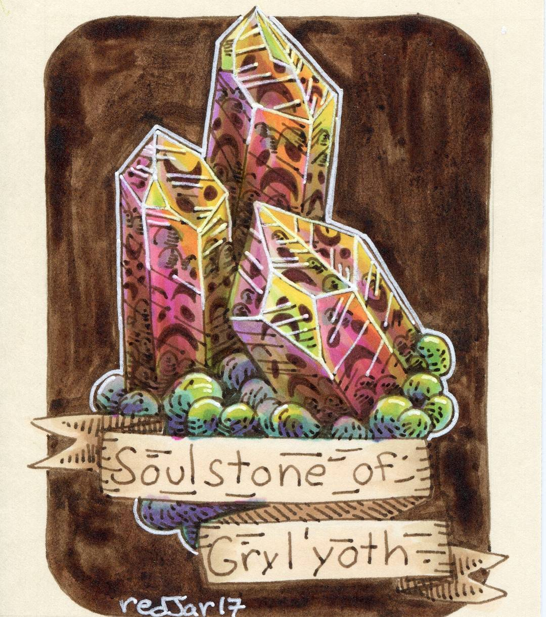 "redjarojam ""Soulstone of Gryl-yoth"" - by Jared DeCosta (redjarojam) www.instagram.com/redjarojam (2017-03) © dell'autore tutti i diritti riservati"