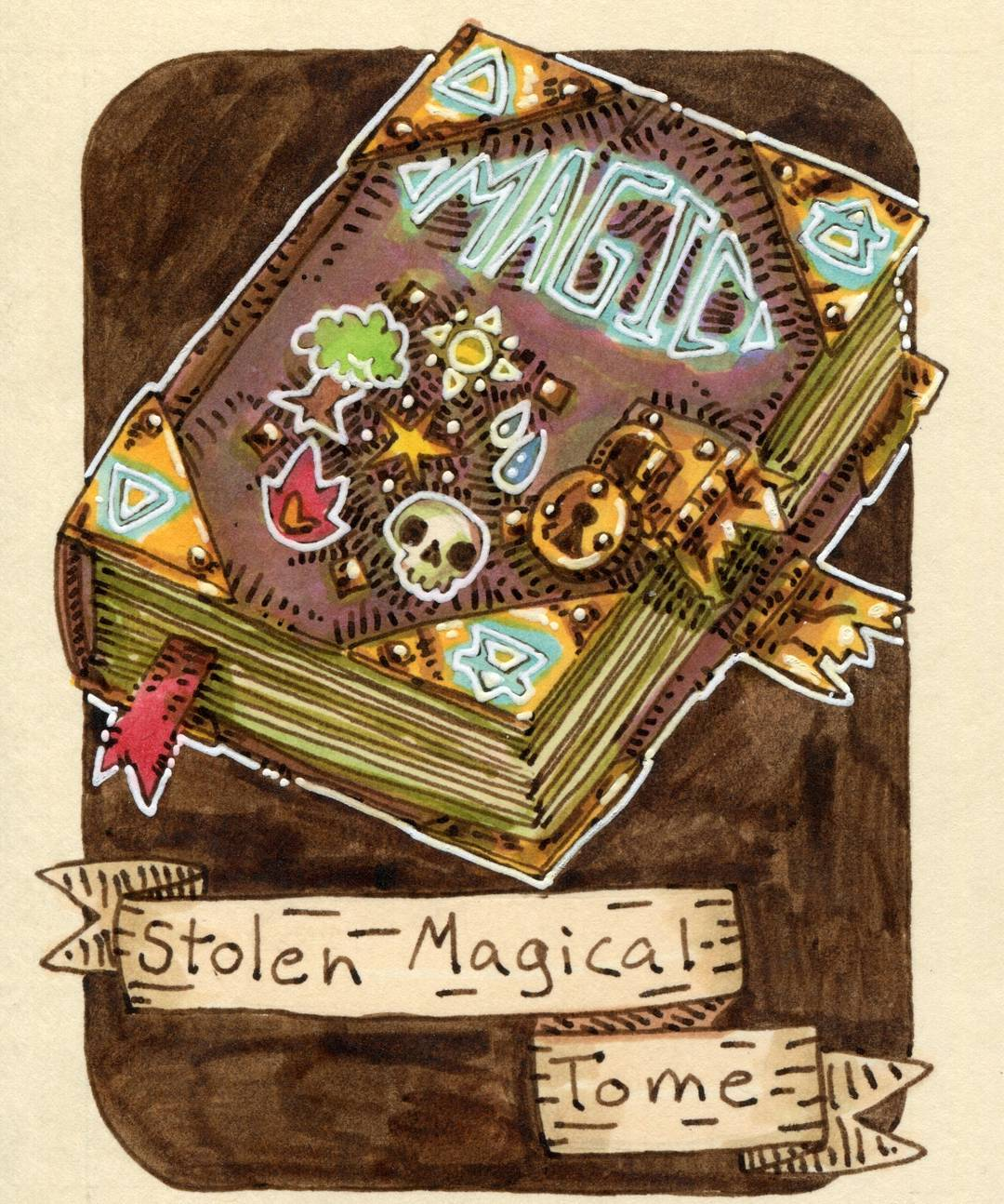"redjarojam ""Stolen Magical Tome"" - by Jared DeCosta (redjarojam) www.instagram.com/redjarojam (2018-02) © dell'autore tutti i diritti riservati"