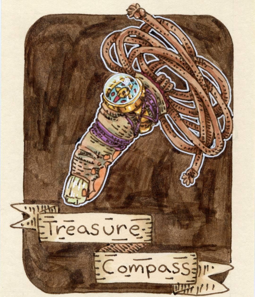 "redjarojam ""Treasure Compass"" - by Jared DeCosta (redjarojam) www.instagram.com/redjarojam (2018-02) © dell'autore tutti i diritti riservati"