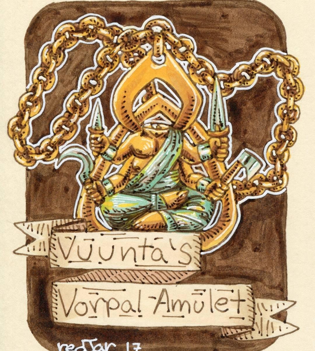 "redjarojam ""Vuunta's Vorpal Amulet"" - by Jared DeCosta (redjarojam) www.instagram.com/redjarojam (2017-04) © dell'autore tutti i diritti riservati"