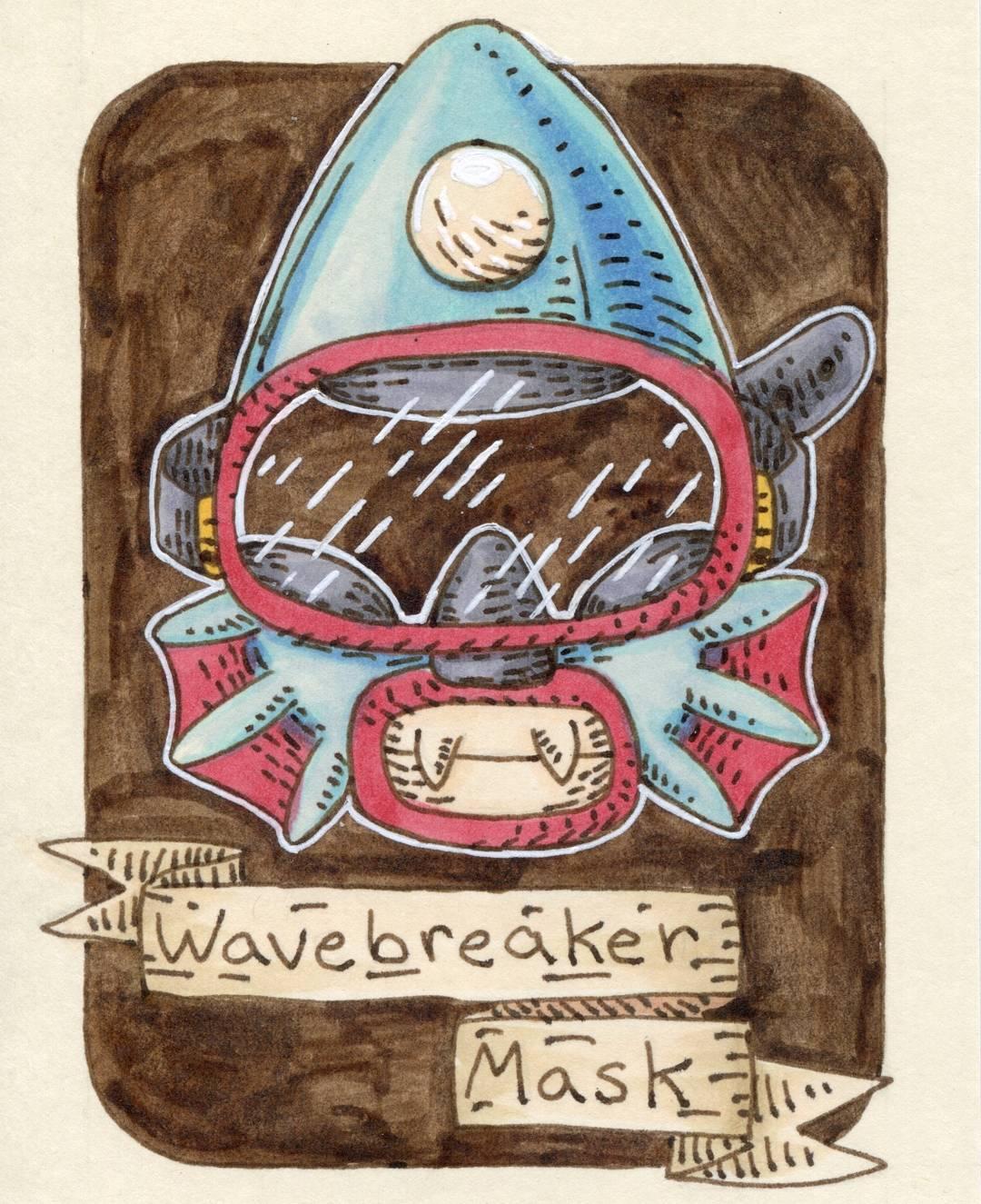 "redjarojam ""Wavebreaker Mask"" - by Jared DeCosta (redjarojam) www.instagram.com/redjarojam (2018-02) © dell'autore tutti i diritti riservati"