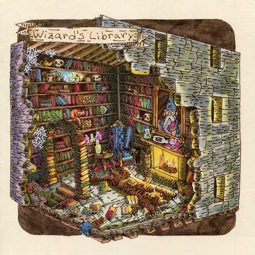 "redjarojam ""Wizard's Library"" - by Jared DeCosta (redjarojam) www.instagram.com/redjarojam (2018-03) © dell'autore tutti i diritti riservati"