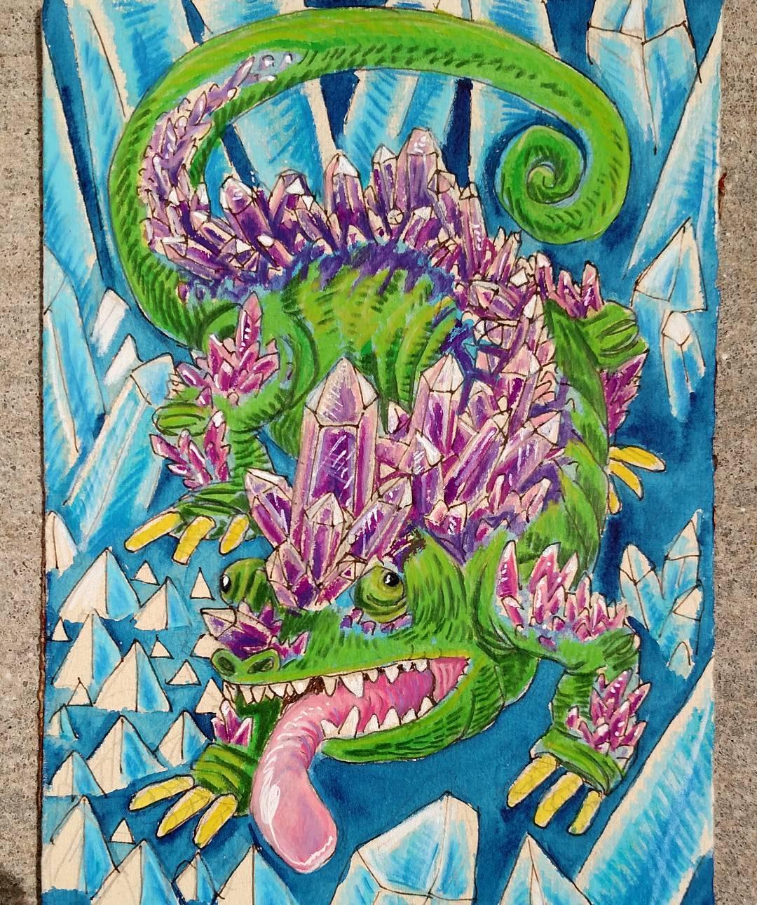 """redjarojam """"Gem Dragon"""" - by Jared DeCosta (redjarojam) www.instagram.com/redjarojam (2016-2019) © dell'autore tutti i diritti riservati"""