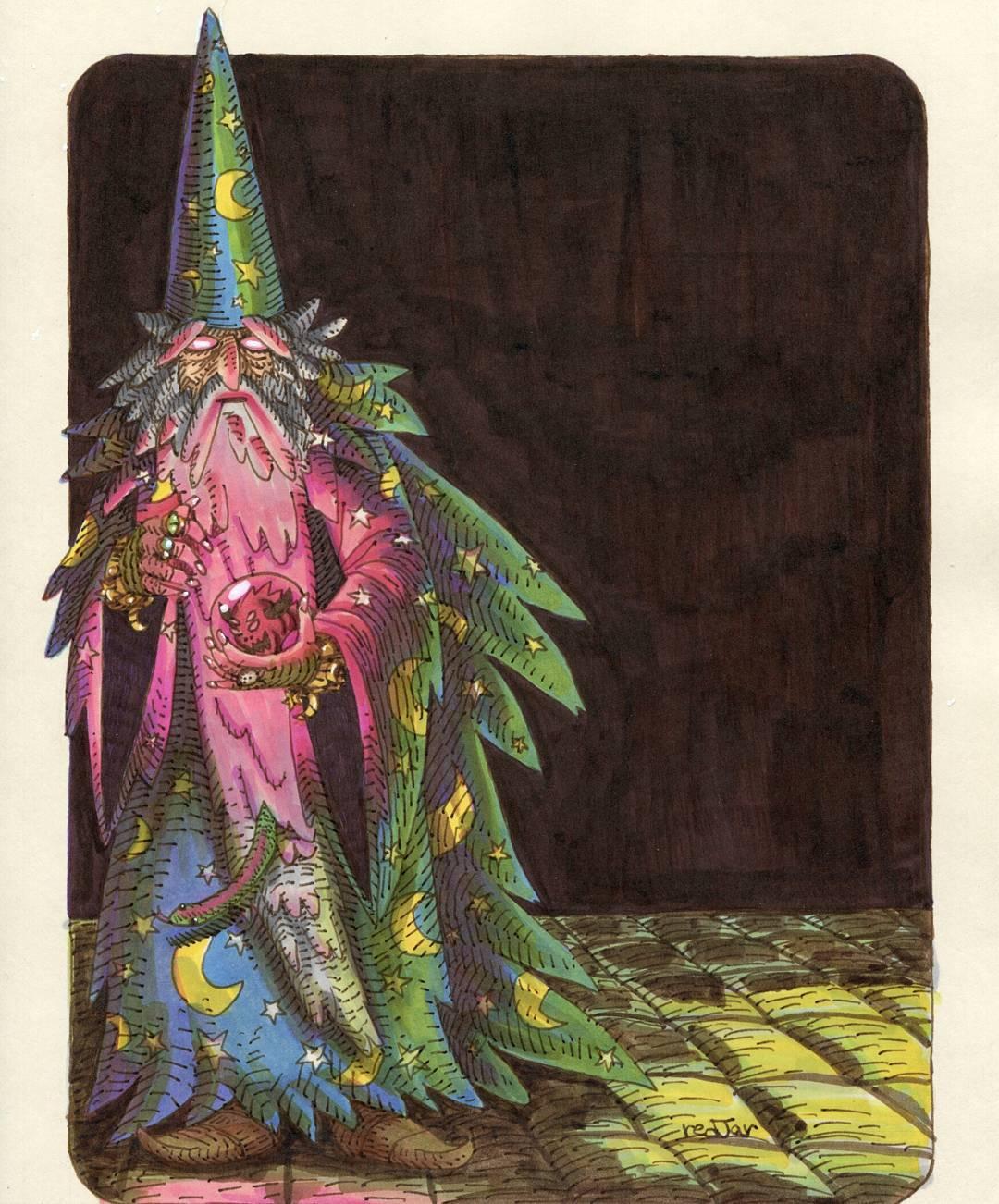 """redjarojam """"Corrupt Wizard"""" - by Jared DeCosta (redjarojam) www.instagram.com/redjarojam (2016-2019) © dell'autore tutti i diritti riservati"""