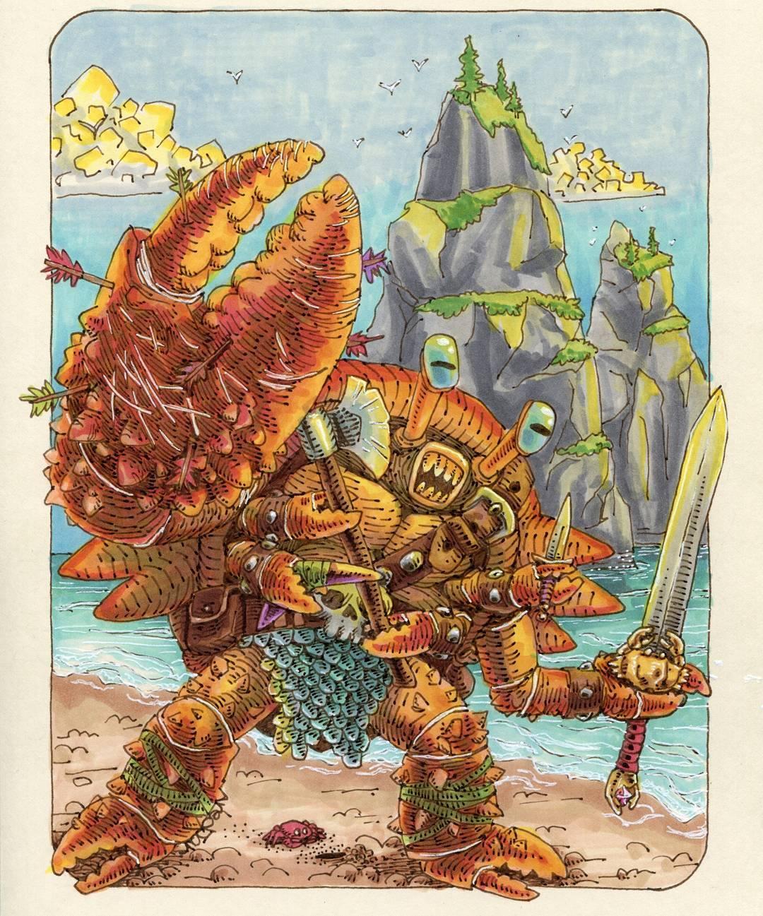 """redjarojam """"Crab Warrior"""" - by Jared DeCosta (redjarojam) www.instagram.com/redjarojam (2016-2019) © dell'autore tutti i diritti riservati"""