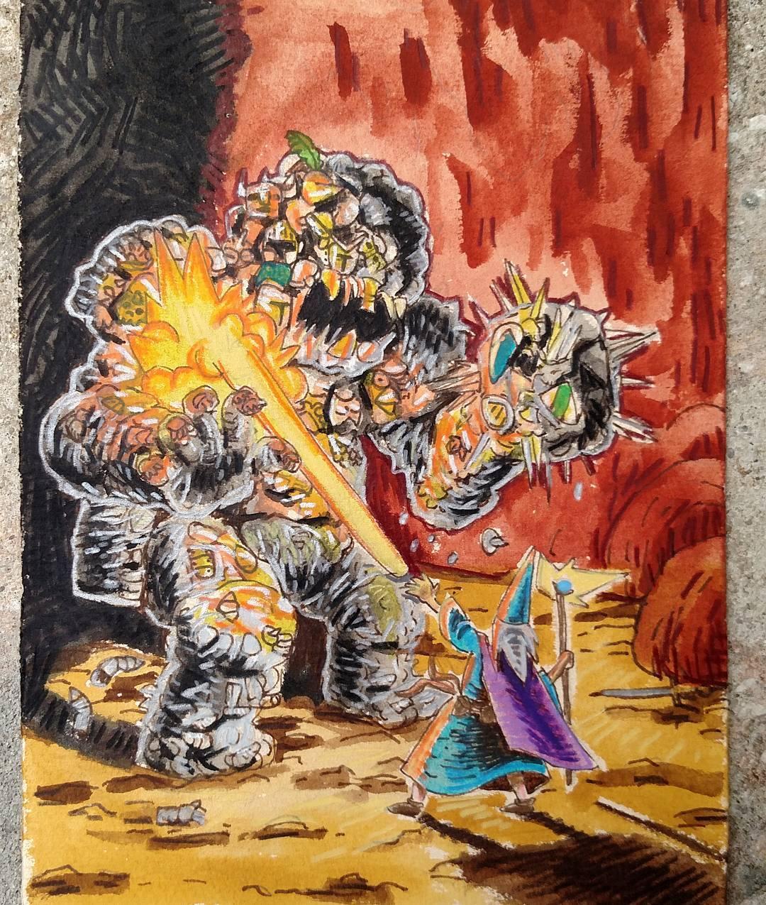 """redjarojam """"Iron Golem"""" - by Jared DeCosta (redjarojam) www.instagram.com/redjarojam (2016-2019) © dell'autore tutti i diritti riservati"""
