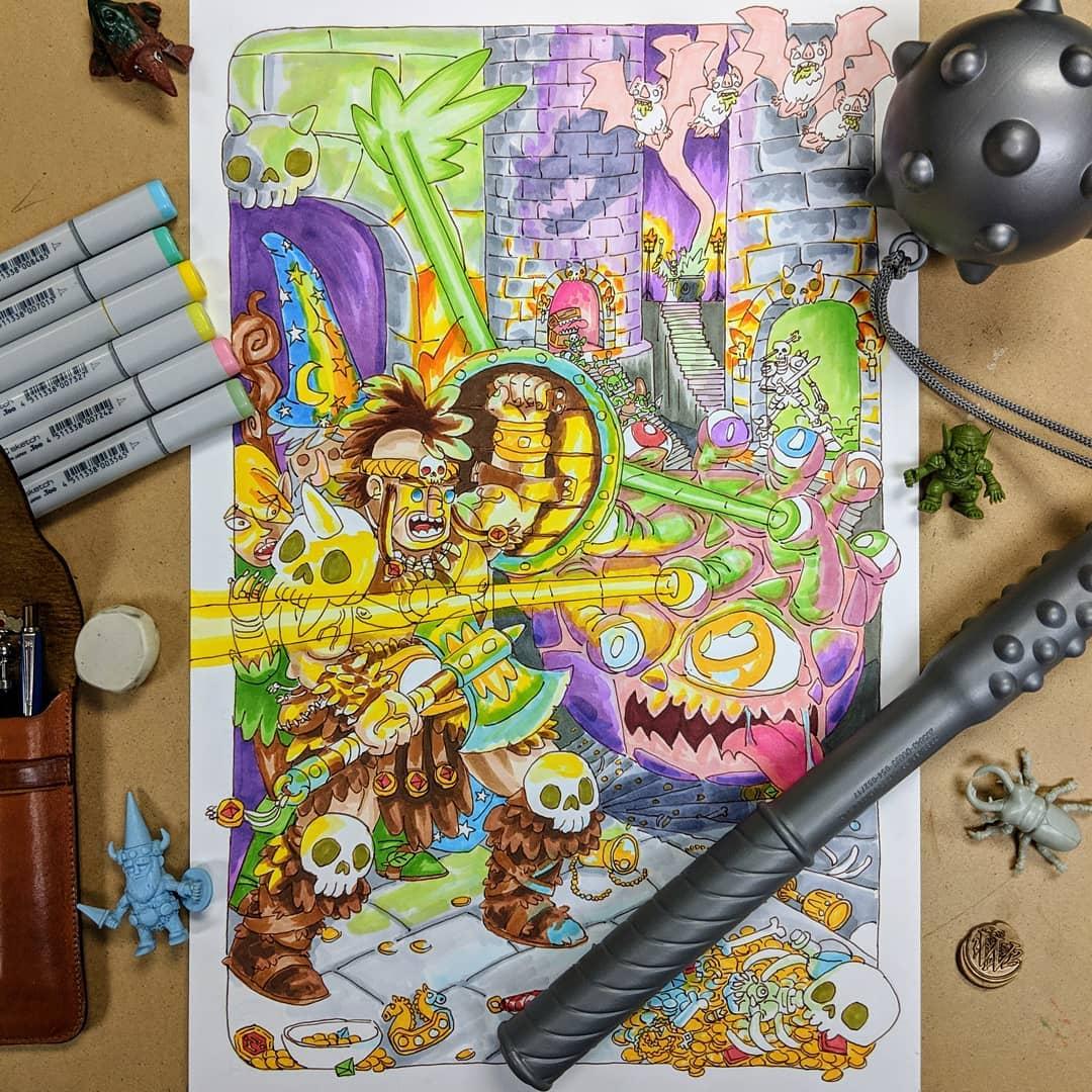 """redjarojam """"Party"""" commission - by Jared DeCosta (redjarojam) www.instagram.com/redjarojam (2016-2019) © dell'autore tutti i diritti riservati"""