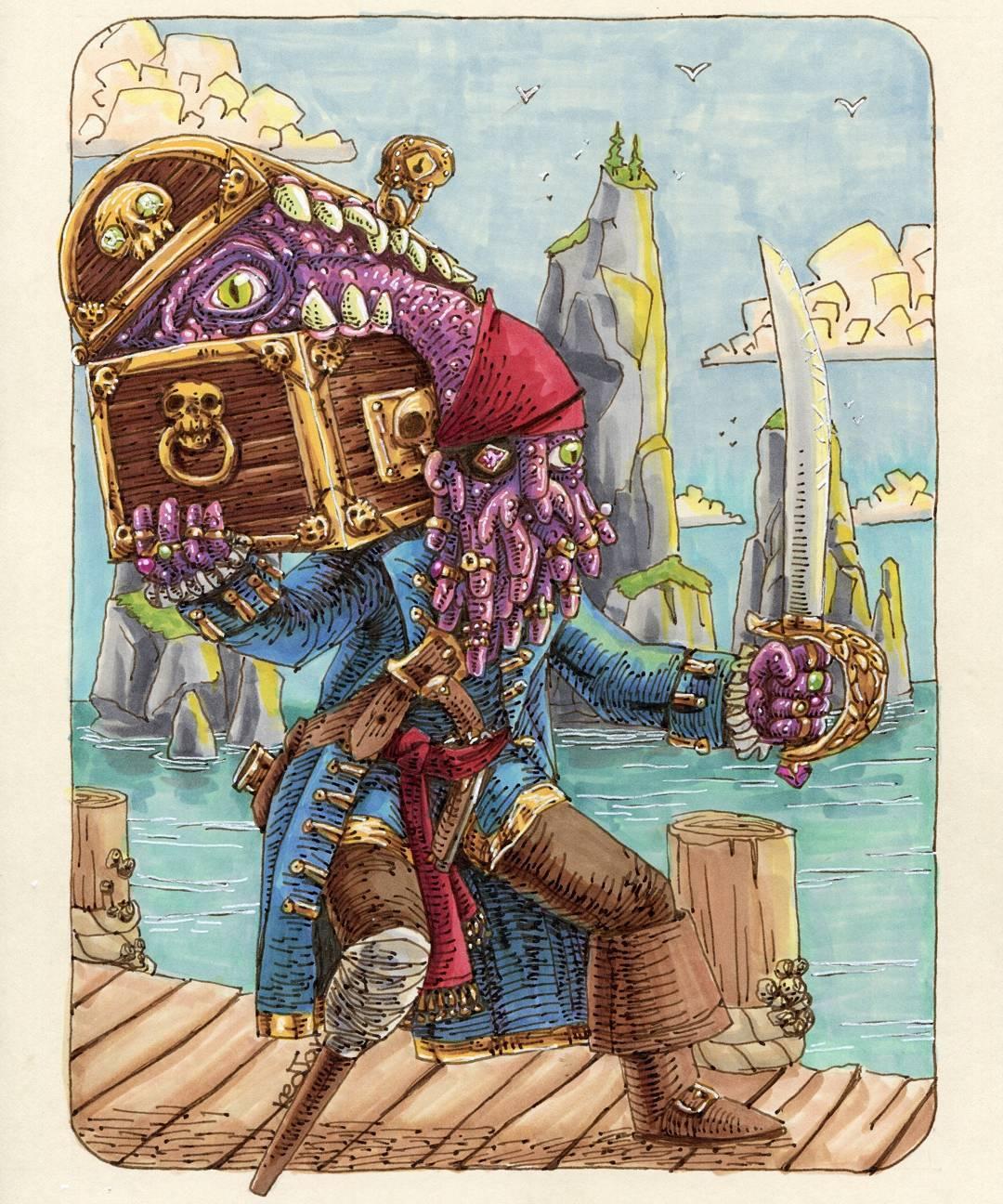 """redjarojam """"Pirate's Mimic"""" - by Jared DeCosta (redjarojam) www.instagram.com/redjarojam (2016-2019) © dell'autore tutti i diritti riservati"""