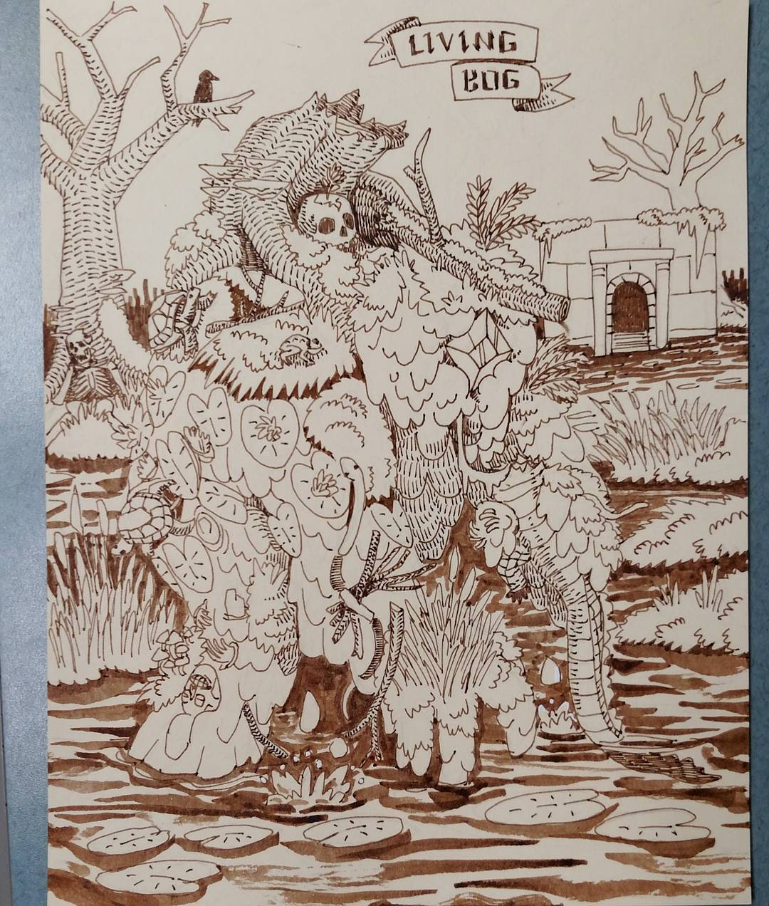 "redjarojam ""Swamp Temple Living Bog"" - by Jared DeCosta (redjarojam) www.instagram.com/redjarojam (2016-2019) © dell'autore tutti i diritti riservati"