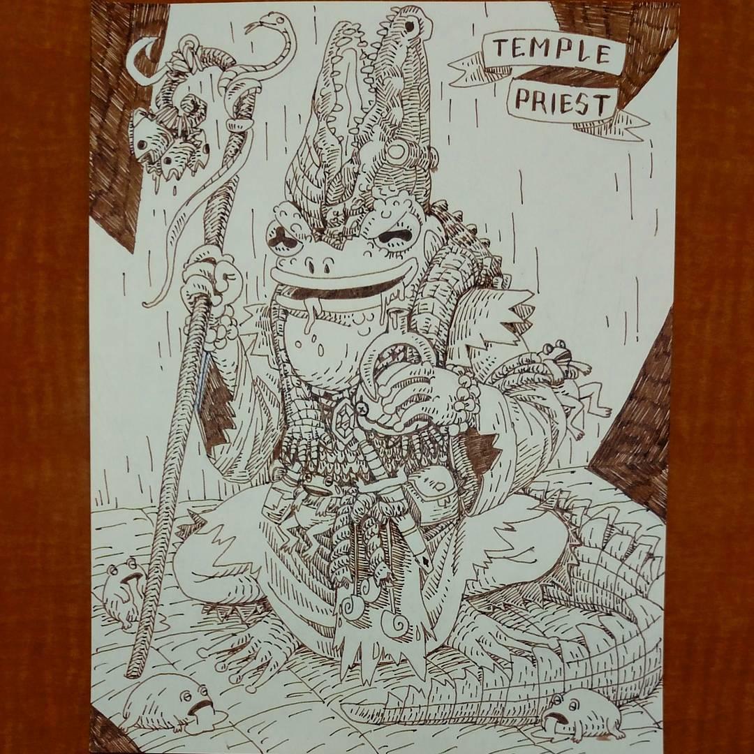"redjarojam ""Swamp Temple Priest"" - by Jared DeCosta (redjarojam) www.instagram.com/redjarojam (2016-2019) © dell'autore tutti i diritti riservati"