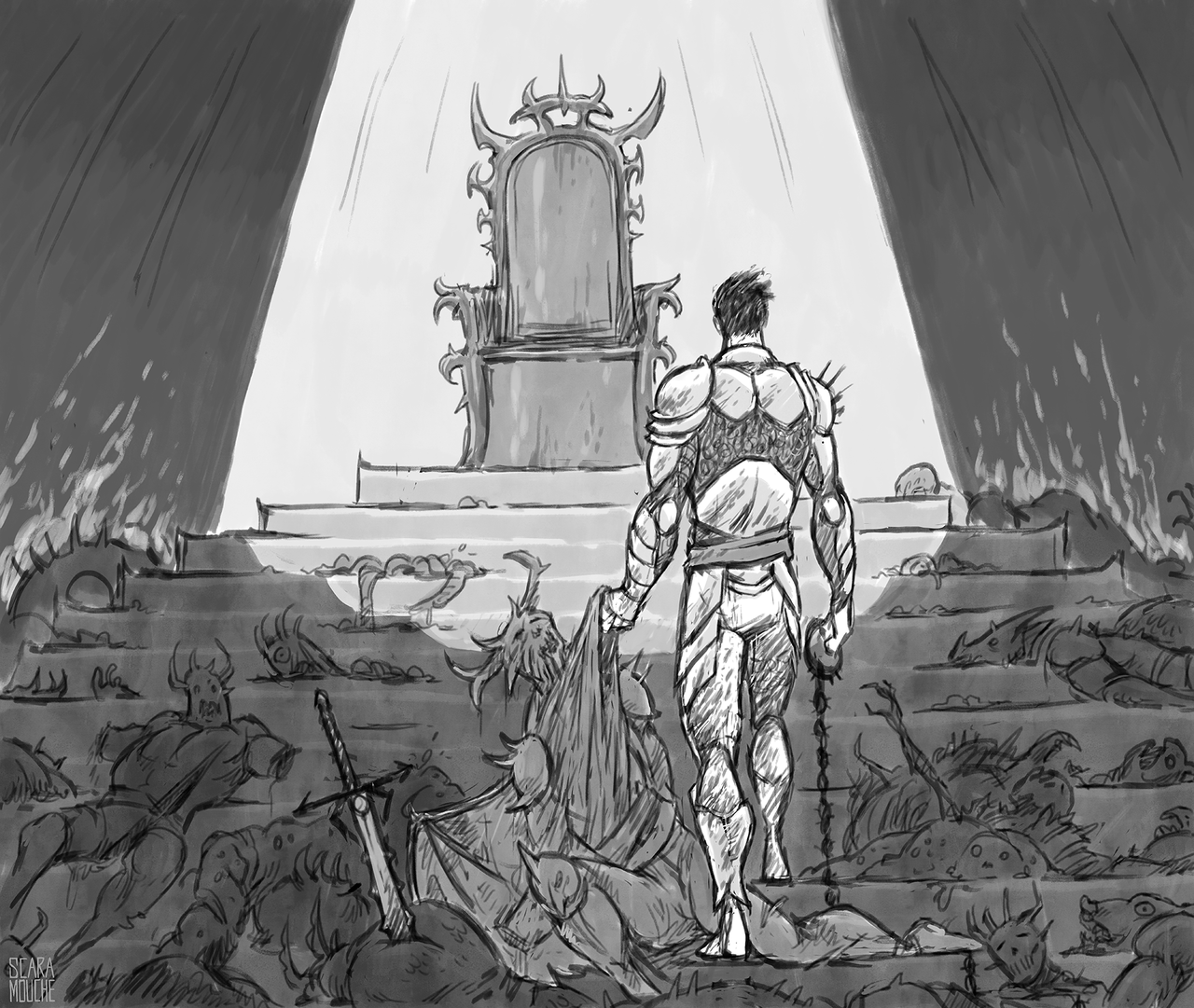 """saintrabouin Scara Mouche """"Tales of the Abyss: Elsar Delnary's throne"""" - by Baptiste (Scara Mouche) saintrabouin.tumblr.com (2018-12) © dell'autore tutti i diritti riservati"""