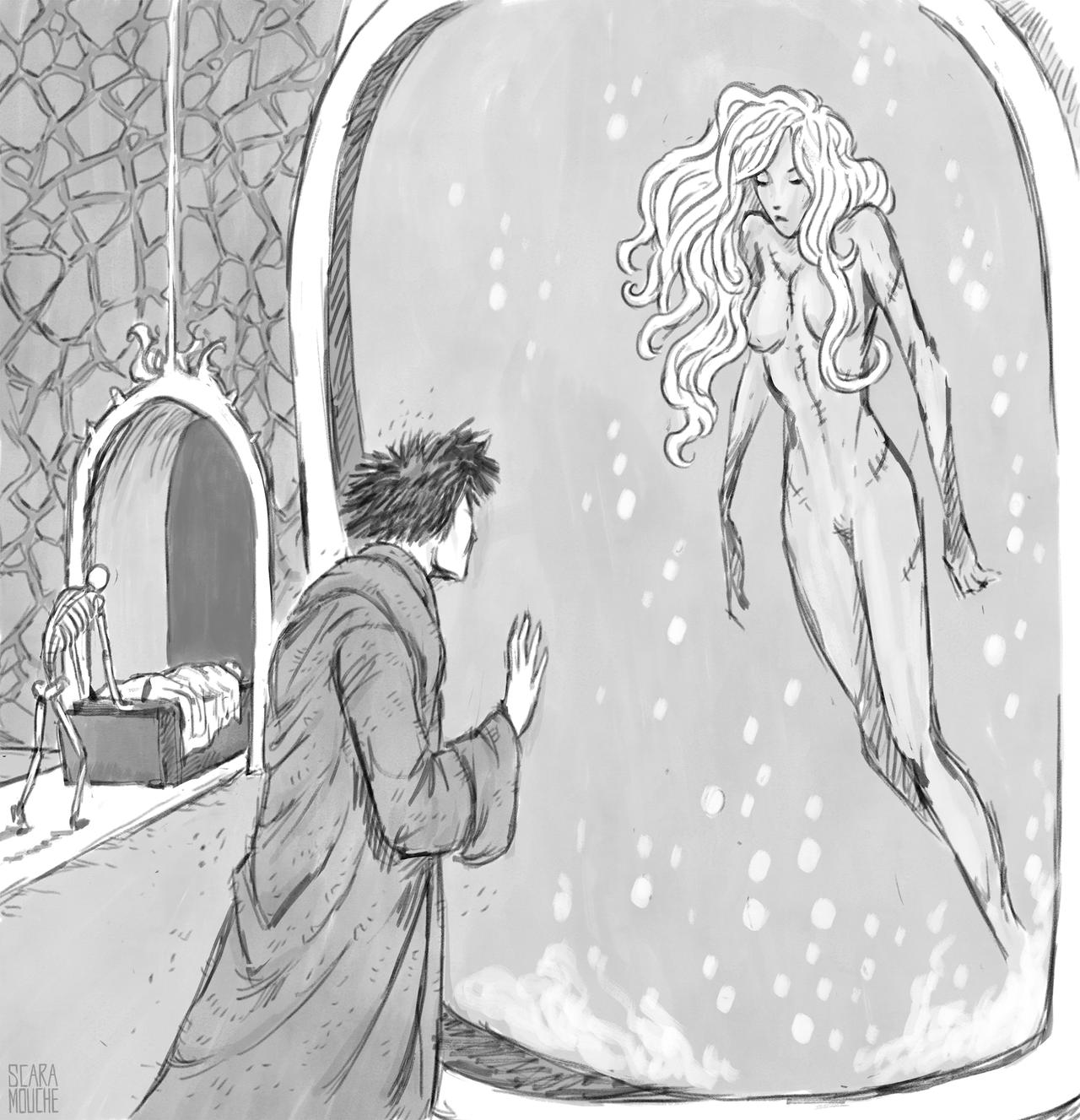 """saintrabouin Scara Mouche """"The Chant of Sigil: The Dustman and his dead lover"""" - by Baptiste (Scara Mouche) saintrabouin.tumblr.com (2018-12) © dell'autore tutti i diritti riservati"""