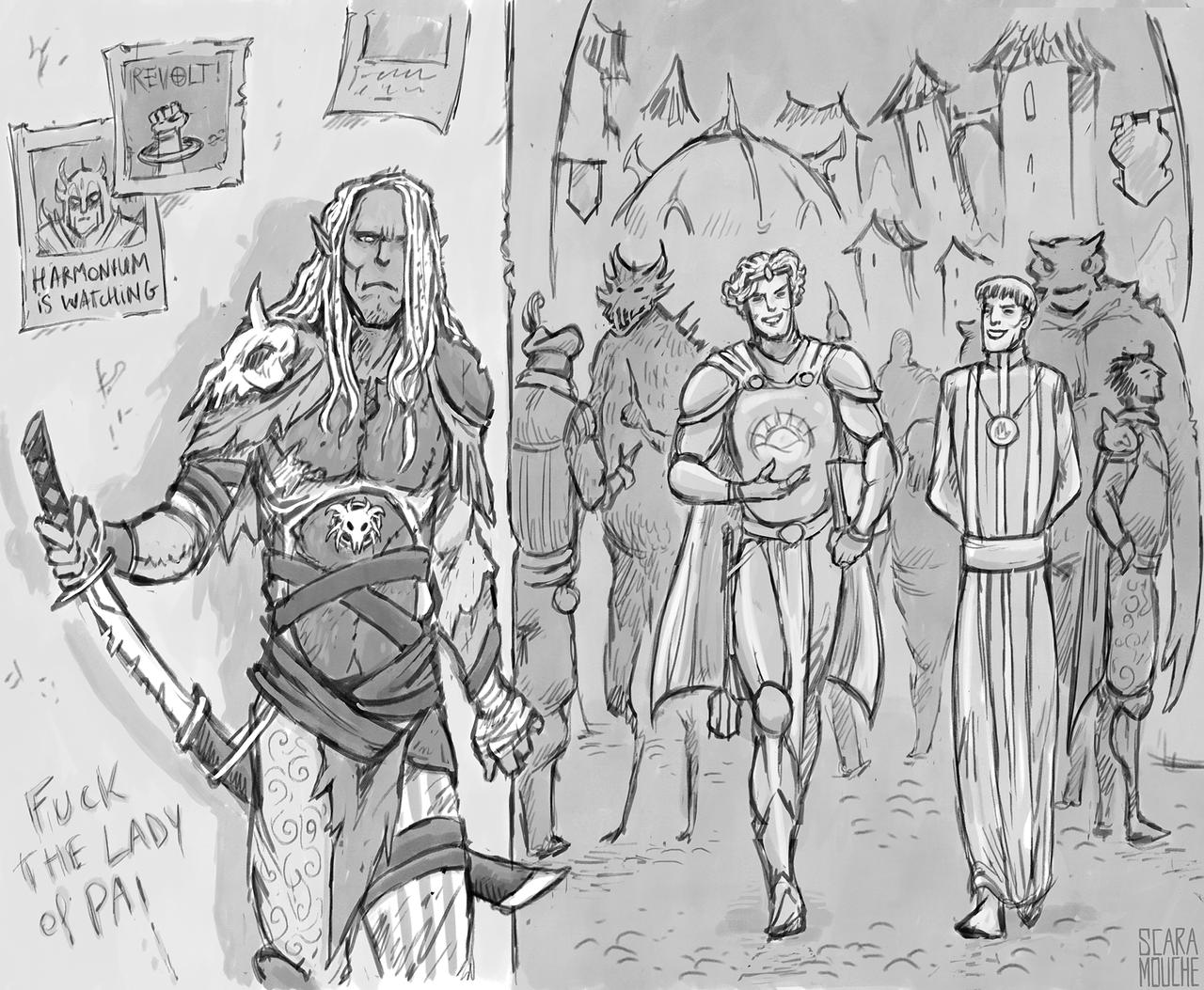 "saintrabouin Scara Mouche ""The Chant of Sigil: The brutal assassination of two priests by the Sinker 61"" - by Baptiste (Scara Mouche) saintrabouin.tumblr.com (2018-12) © dell'autore tutti i diritti riservati"