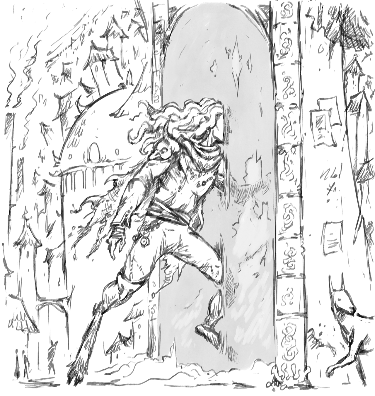 """saintrabouin Scara Mouche """"Follow Me!"""", un salto in un portale di Sigil - by Baptiste (Scara Mouche) saintrabouin.tumblr.com (2018-12) © dell'autore tutti i diritti riservati"""