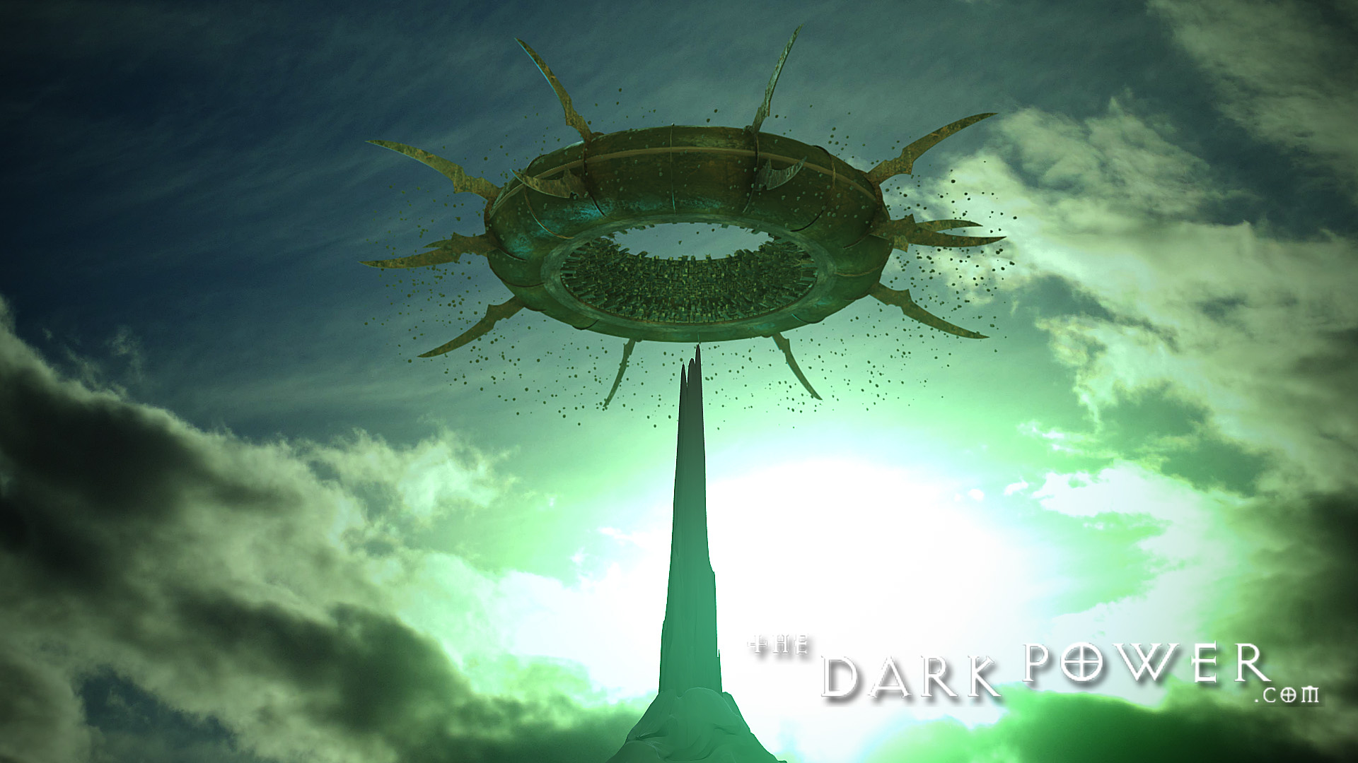 the-dark-power La città di Sigil in grafica CGI, screenshot 1 - by The Dark Power (Joe) thedarkpower.com (2018-11) © dell'autore, tutti i diritti riservati