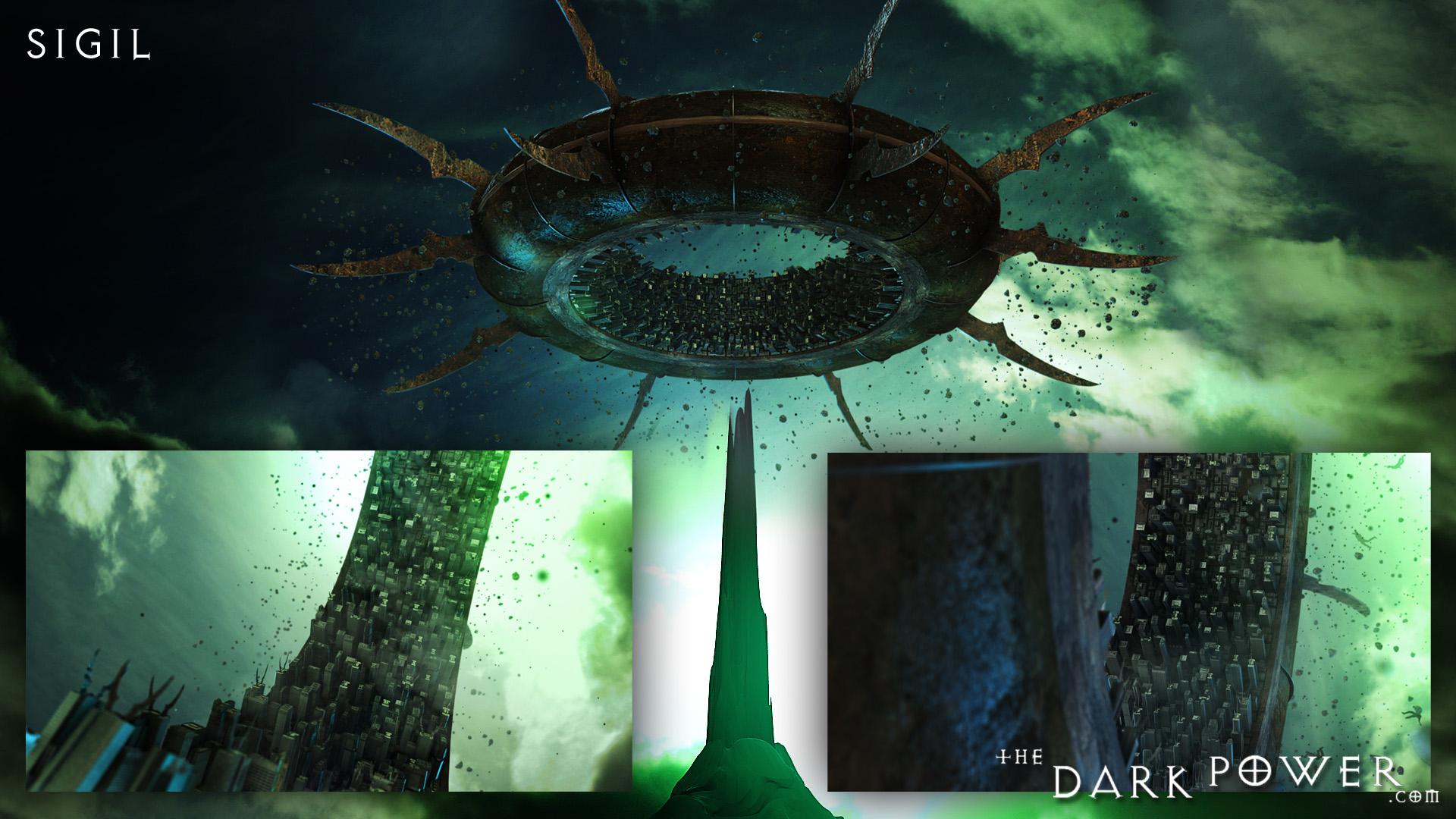 the-dark-power La città di Sigil in grafica CGI, montaggio screenshots - by The Dark Power (Joe) thedarkpower.com (2018-11) © dell'autore, tutti i diritti riservati