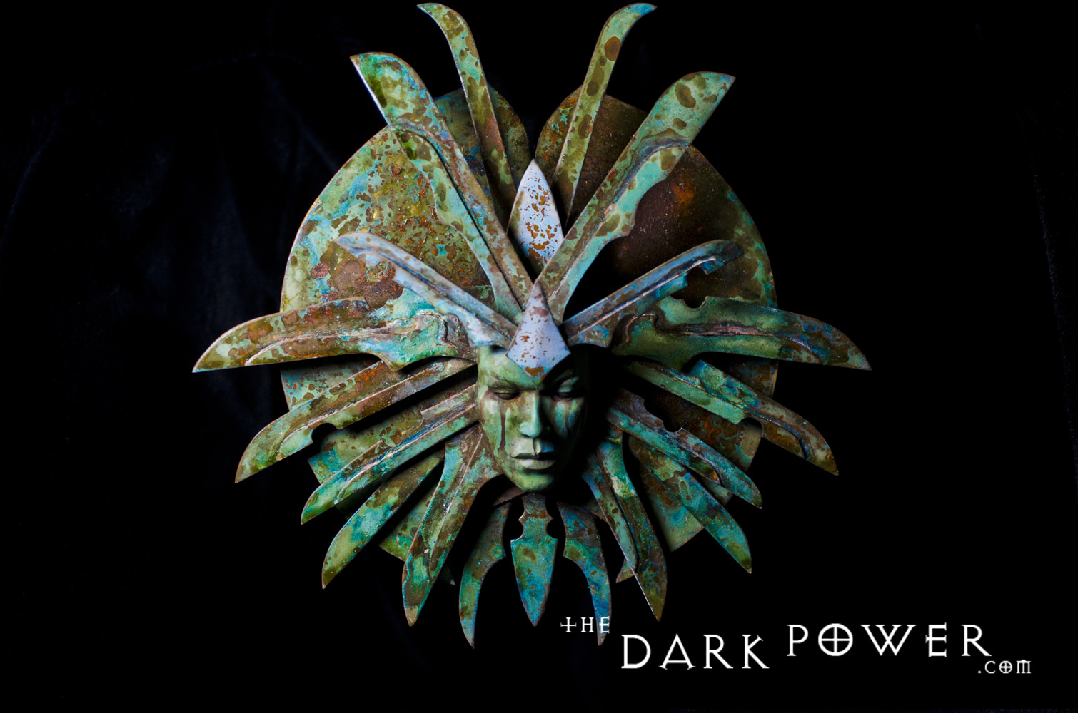 "the-dark-power ""The Lady of Pain"", scultura in ottone - by The Dark Power (Joe) thedarkpower.com (2018-11) © dell'autore, tutti i diritti riservati"
