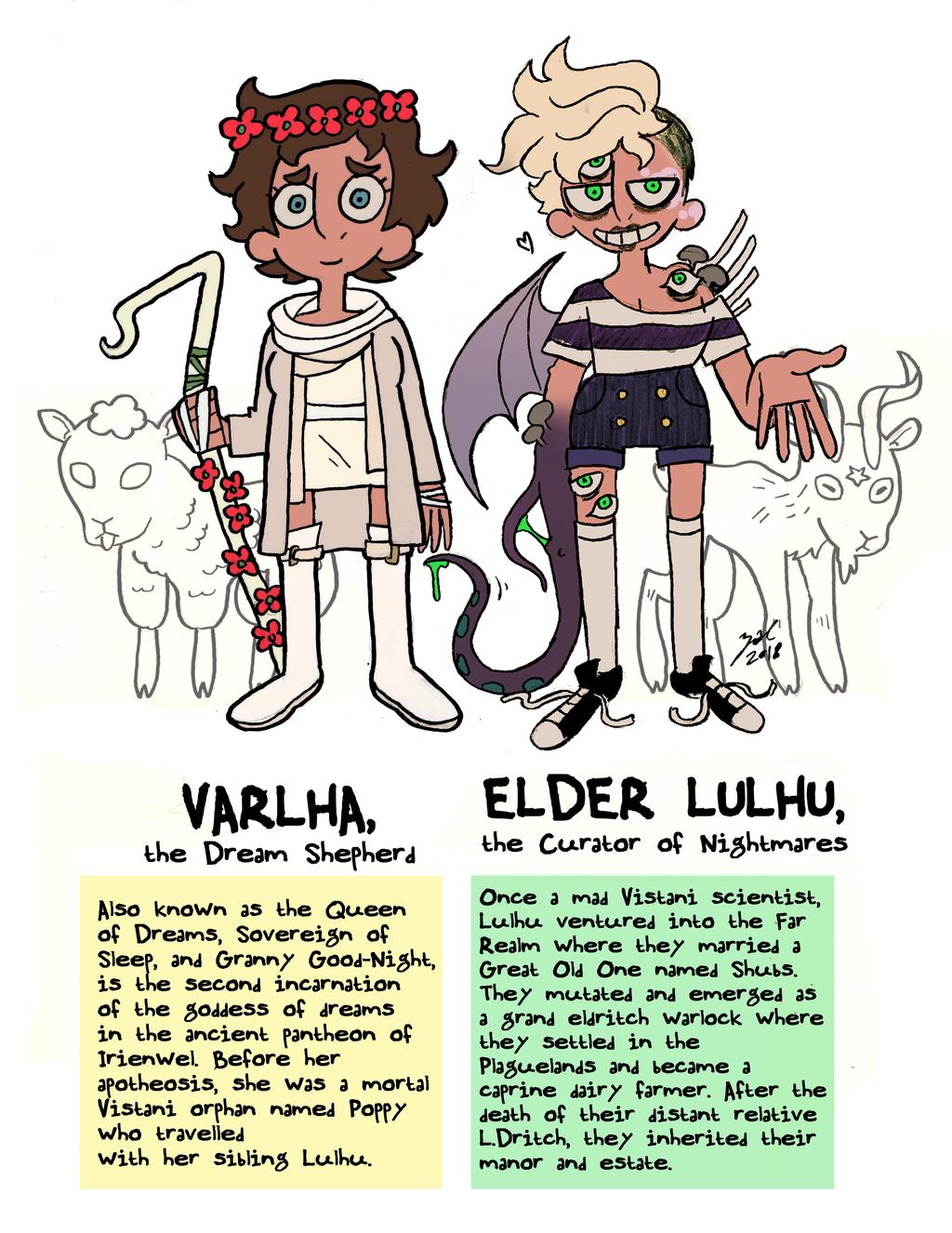 "zal001 ""Elder Luhlu & Varlha, The Vistani Siblings"" - by Austin ""Zal"" Forbes www.deviantart.com/zal001 (2018) © dell'autore tutti i diritti riservati"