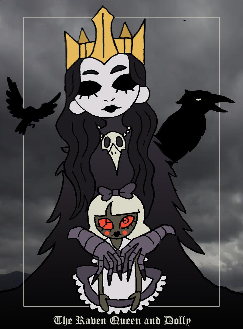 """zal001 """"Raven Queen & Dolly"""" - by Austin """"Zal"""" Forbes www.deviantart.com/zal001 (2018) © dell'autore tutti i diritti riservati"""