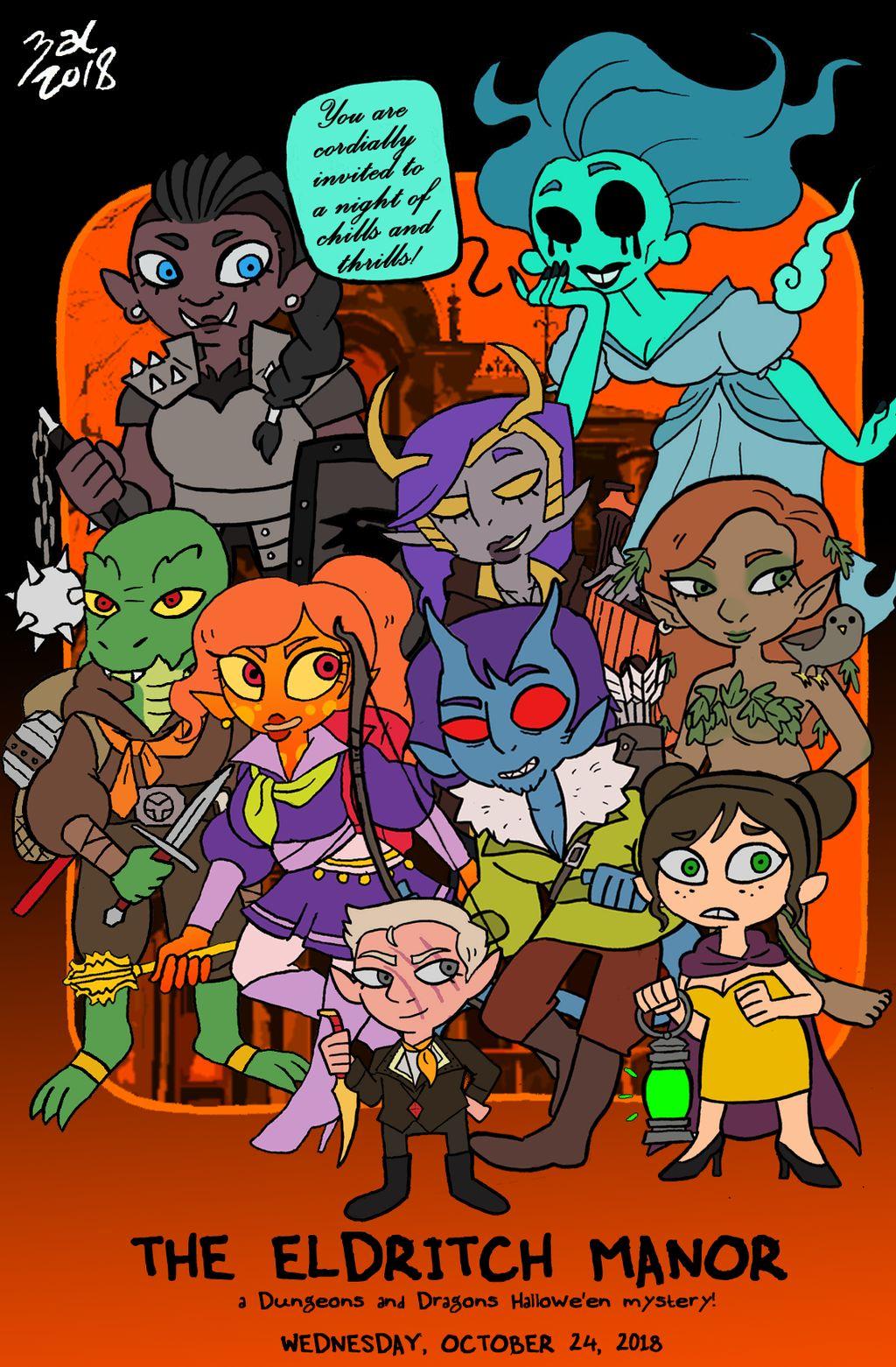 "zal001 ""The Eldritch Manor: a Halloween Mystery"" - by Austin ""Zal"" Forbes www.deviantart.com/zal001 (2018) © dell'autore tutti i diritti riservati"