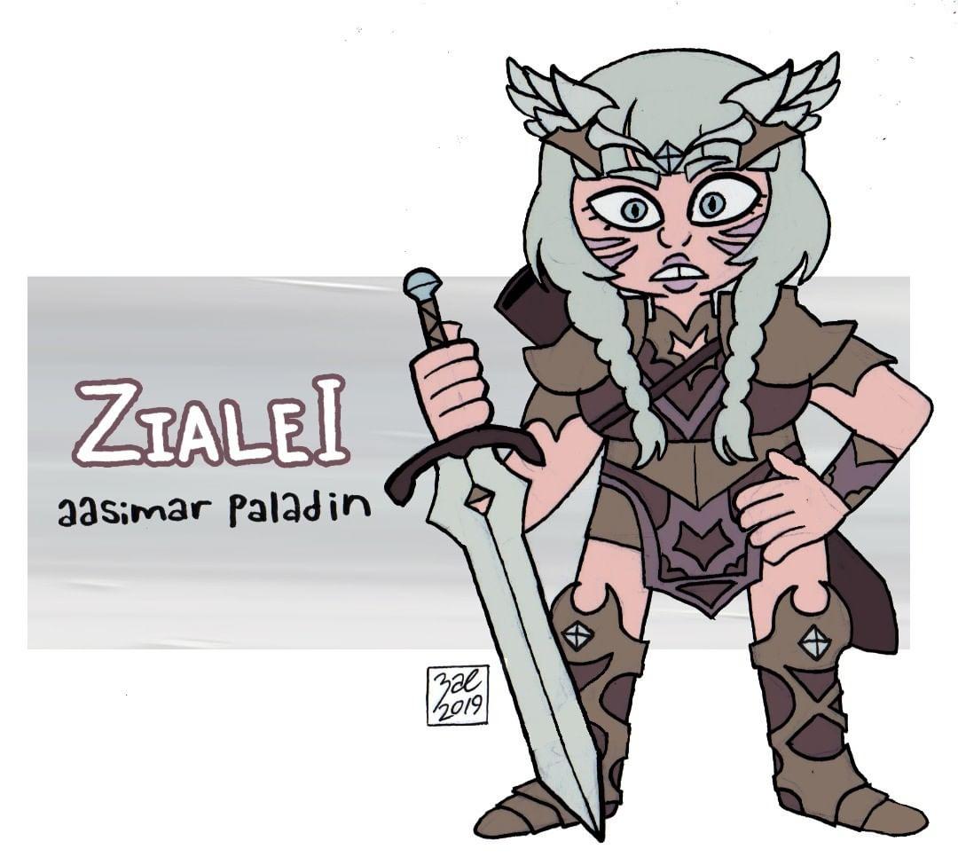 "zal001 ""Zialei, aasimar paladin"" - by Austin ""Zal"" Forbes www.pictosee.com/zal_arts (2019) © dell'autore tutti i diritti riservati"