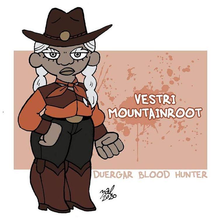 "zal001 duergar blood hunter - by Austin ""Zal"" Forbes zal-art.tumblr.com (2020-04) © dell'autore tutti i diritti riservati"