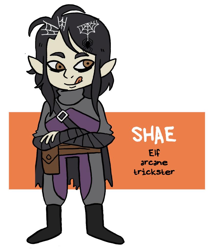 "zal001 ""Shae, elf arcane trickster"" - by Austin ""Zal"" Forbes www.deviantart.com/zal001 (2019) © dell'autore tutti i diritti riservati"