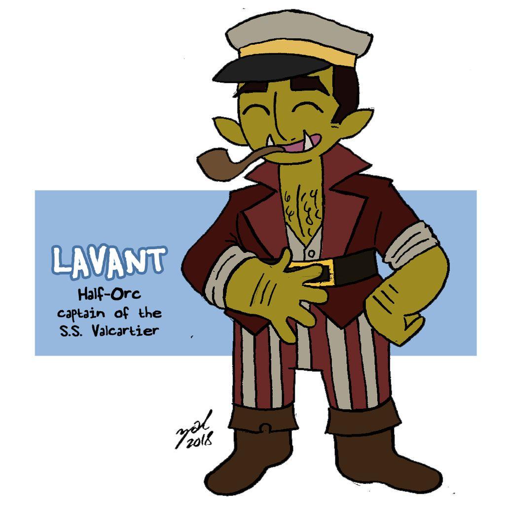 """zal001 """"Captain Lavant"""", mezzorco - by Austin """"Zal"""" Forbes www.deviantart.com/zal001 (2018) © dell'autore tutti i diritti riservati"""