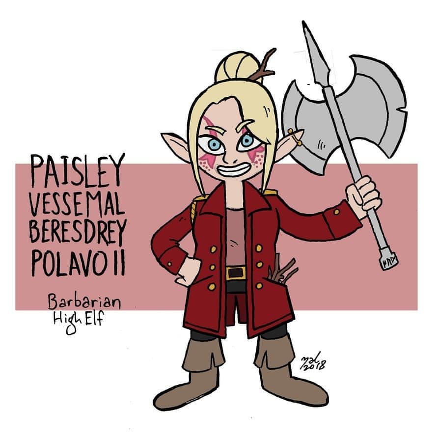 """zal001 """"Paisely, high elf"""" - by Austin """"Zal"""" Forbes www.pictosee.com/zal_arts (2019) © dell'autore tutti i diritti riservati"""