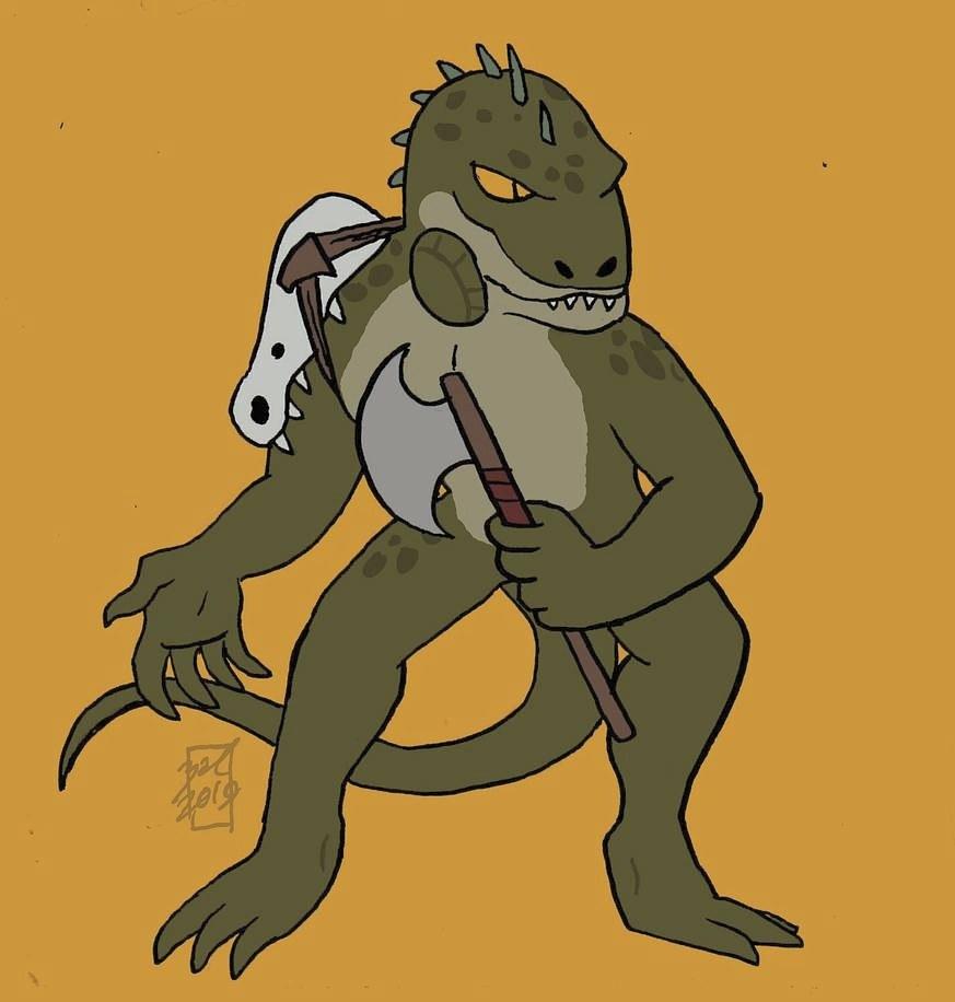 """zal001 """"Lizard Man"""" - by Austin """"Zal"""" Forbes zal-art.tumblr.com (2019-12) © dell'autore tutti i diritti riservati"""