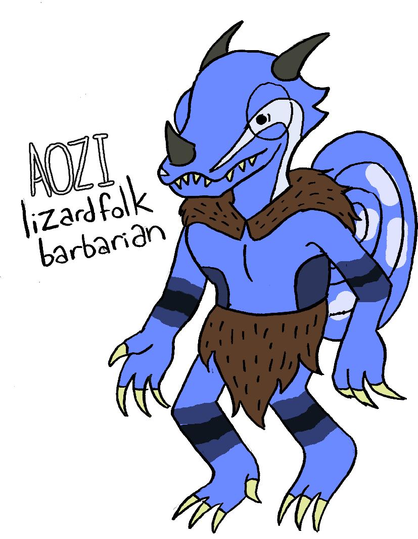 "zal001 ""Aozi"", lucertoloide - by Austin ""Zal"" Forbes www.deviantart.com/zal001 (2018) © dell'autore tutti i diritti riservati"